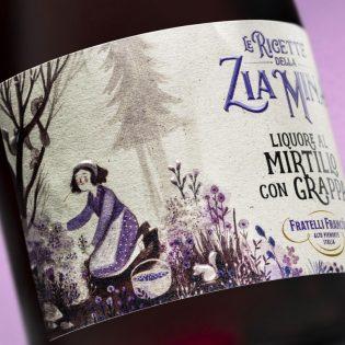 LIQUORE al MIRTILLO Le Ricette della Zia Mina -700ml