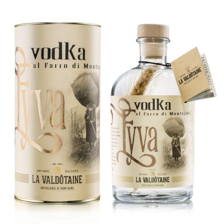 VODKA EYVA La Valdotaine -1000ml Gift Tube